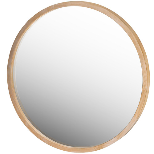 One Six Eight London Tina Round Wooden Mirror