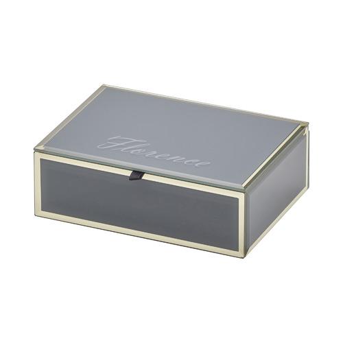 One Six Eight London Medium Zara Glass Jewellery Box