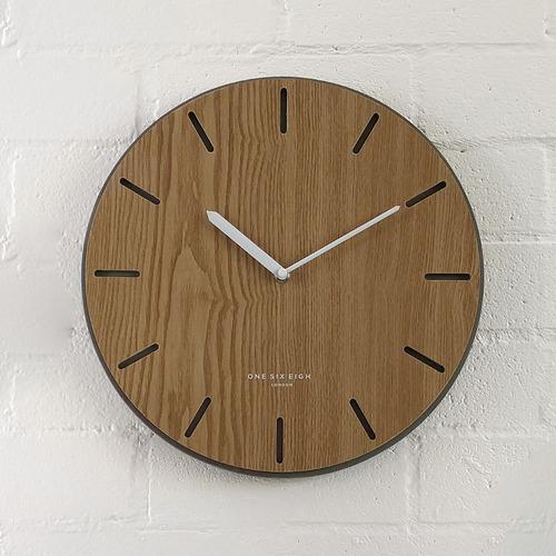 35cm Gabriel Silent Concrete & Wood Wall Clock