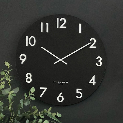 Black Jackson Silent Wall Clock
