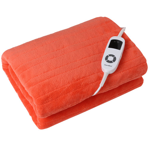 Charlies Pet Product Coral Living Fleece Heated Throw