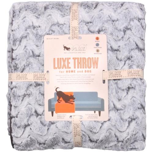 PLAY Pet Lifestyle & You Grey Husky Snuggle Luxe Pet Throw