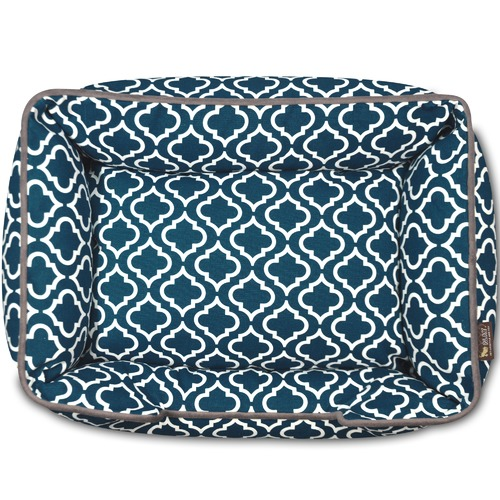 PLAY Pet Lifestyle & You Navy Moroccan Lounge Pet Bed