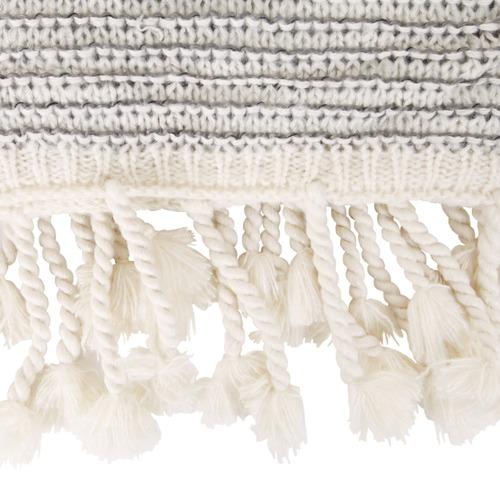 Collective Sol Grey & White Waffle Knit Mason Throw