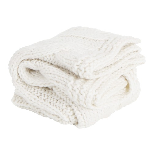 Collective Sol Ivory Chunky Claudette Knitted Blanket