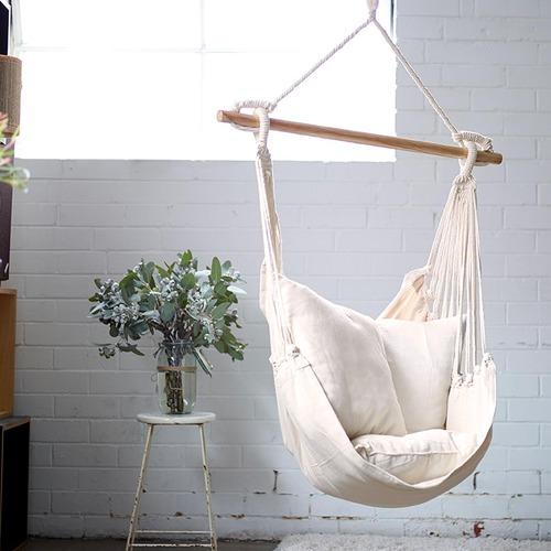 Natural Noosa Cotton Hammock Chair Swing