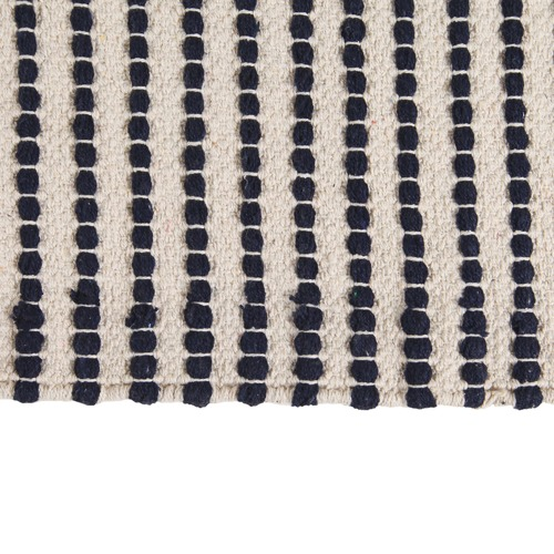 Collective Sol Blue Evie Woven Cotton Rug