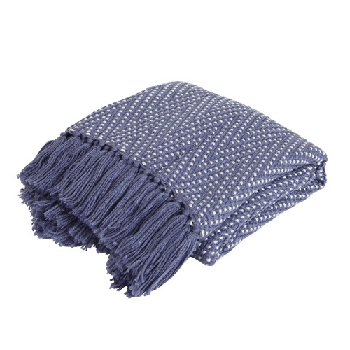 Collective Sol Zigzag Tassel Throw