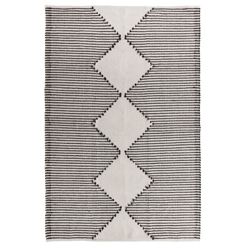Collective Sol Black Evie Woven Cotton Rug