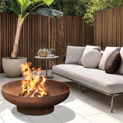 Collective Sol Large Natural Rust Phoenix Fire Pit