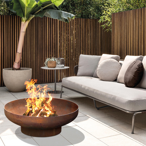 Collective Sol Rust Phoenix Footed Fire Pit