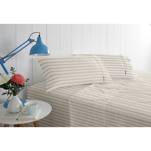 Odyssey Living Cotton Rich 1000TC Striped Sateen Sheet Sets