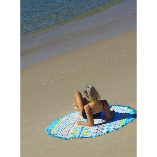 Seychelles Round Cotton Beach Towel