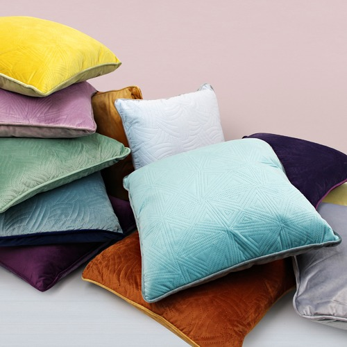 Odyssey Living Veronica Quilted Velvet Cushion