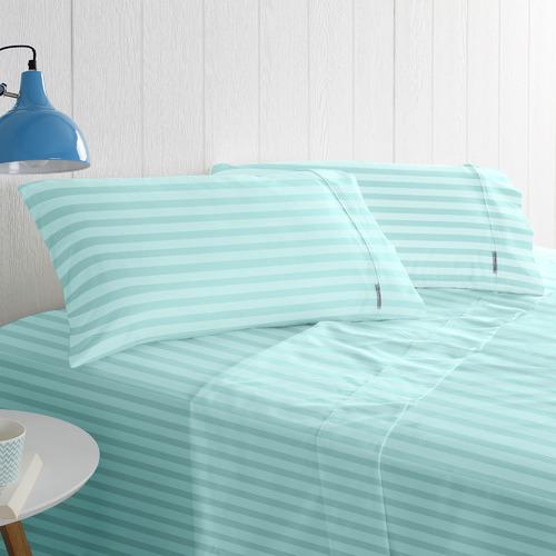 Odyssey Living Cotton Rich 1000TC Striped Sateen Sheet Sets