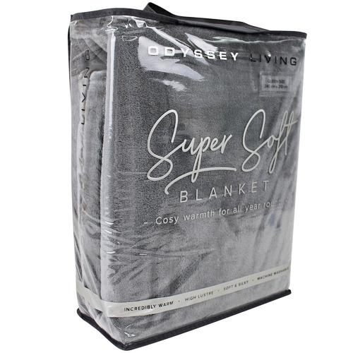 Odyssey Living Solid Olivia Super Soft Blanket