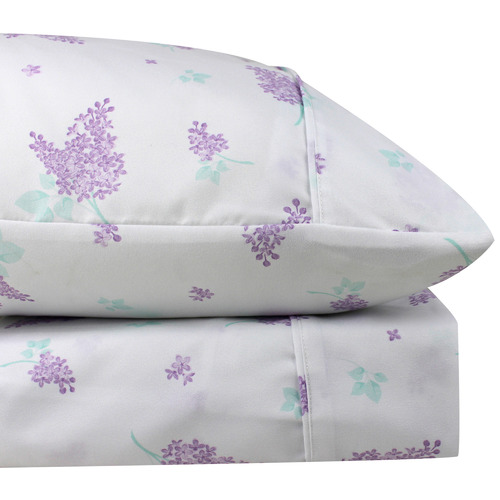 Odyssey Living Lilac Heather Thermal Microfibre Flannelette Sheet Set