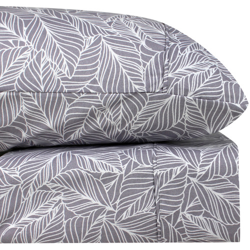Odyssey Living Orchid Aster Thermal Microfibre Flannelette Sheet Set
