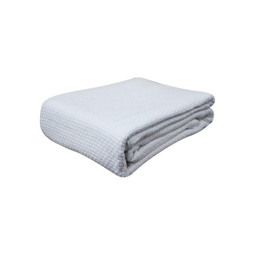 Killarney Linen Pebble Weave Cotton Blanket