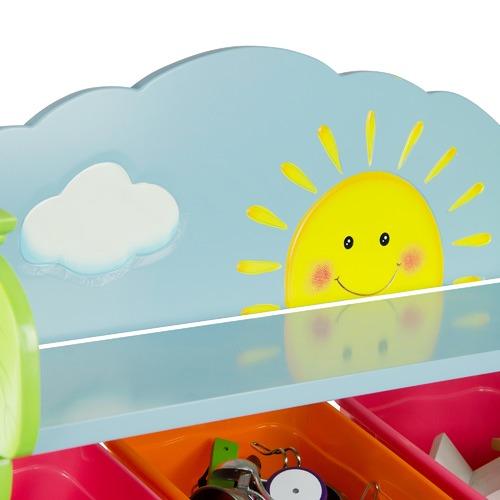 Fantasy Fields By Teamson Fantasy Fields Sunny Safari Toy Organiser with Bins
