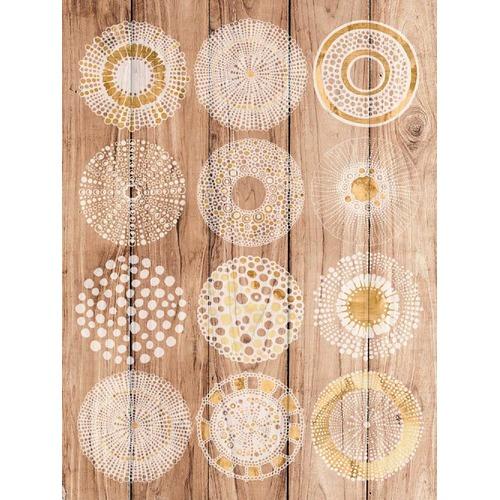 Sunday Homewares Experimental Spheres Wood Panel Wall Art