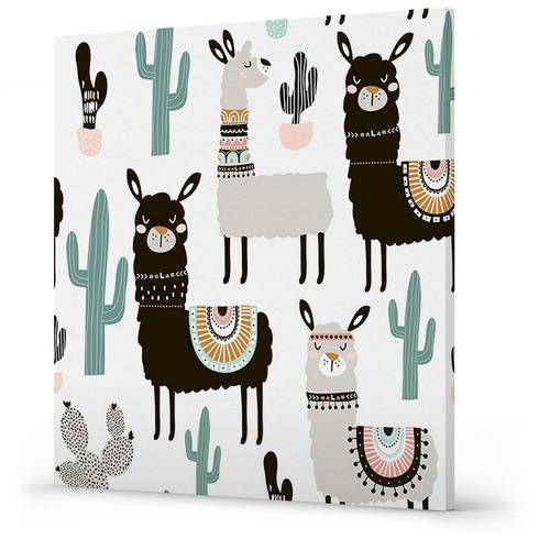 Sunday Homewares Cactus Llama Canvas Wall Art