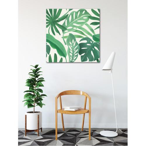 Sunday Homewares Green Fan Palm Leaves II Canvas Wall Art