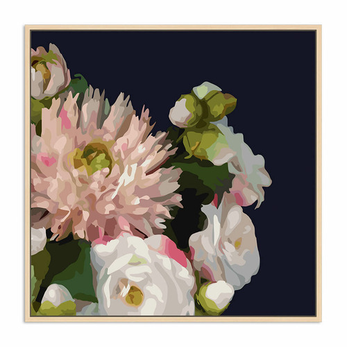 Sunday Homewares Midnight Blush Florals I Canvas Wall Art