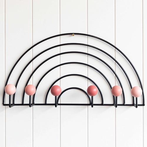 Sunday Homewares Rainbow Metal Wall Hooks