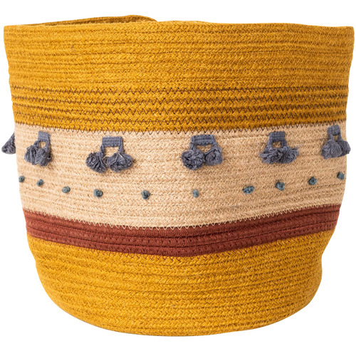 Sunday Homewares Mustard Mano Cotton Rope Basket