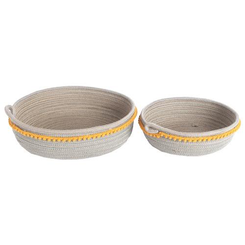 Sunday Homewares 2 Piece Koi Cotton Rope Basket Set