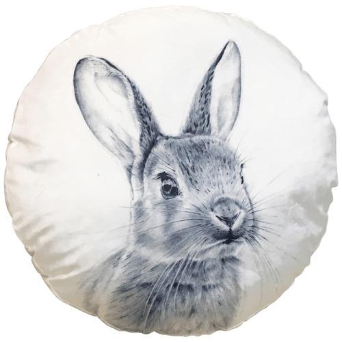 Sunday Homewares Monochrome Rabbit Cotton Cushion