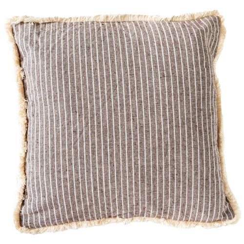 Sunday Homewares Fringed Stripe Holiday Home Cotton Cushion