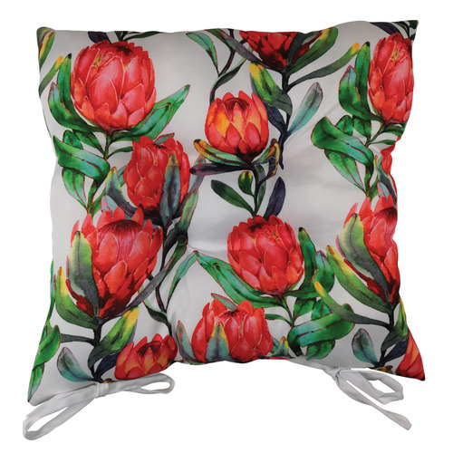 Sunday Homewares Protea Collage Cotton Outdoor Chair Pad