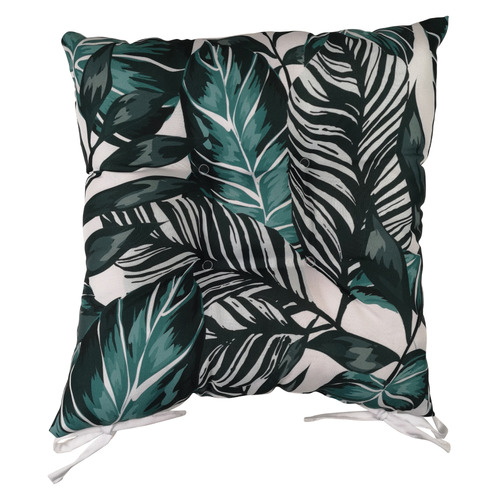 Sunday Homewares Teal Palms Cotton Outdoor Chair Pad