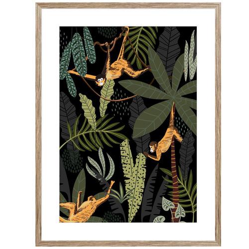 Sunday Homewares Monkeys Its A Jungle Life Framed Printed Wall Art