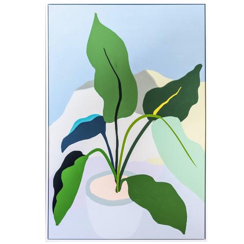 Sunday Homewares Plant Love Green Leaves Framed Canvas Wall Art