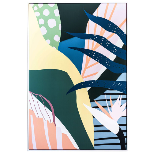 Sunday Homewares Summer Paradise Vibes Collage Framed Canvas Wall Art