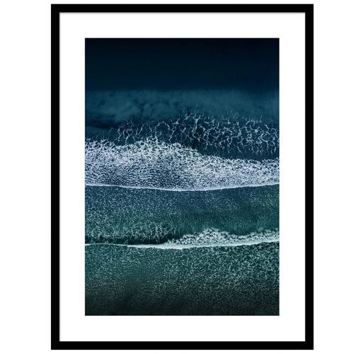 Sunday Homewares Tides In Birds Eye Waves Framed Printed Wall Art