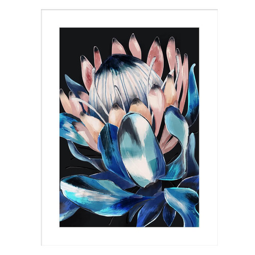 Sunday Homewares Vibrant Protea Profile Framed Printed Wall Art