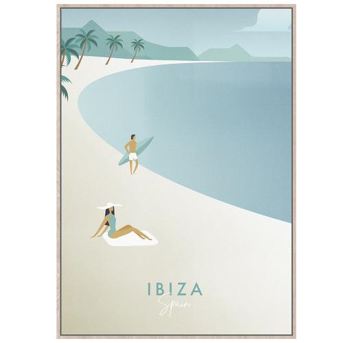 Sunday Homewares Sunbaking Ibiza Framed Canvas Wall Art