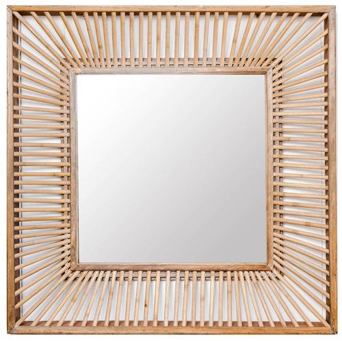 Sunday Homewares Natural Talia Square Wall Mirror