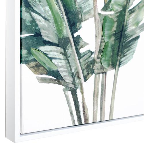 Sunday Homewares Banana Leaves Cluster Framed Canvas Wall Art