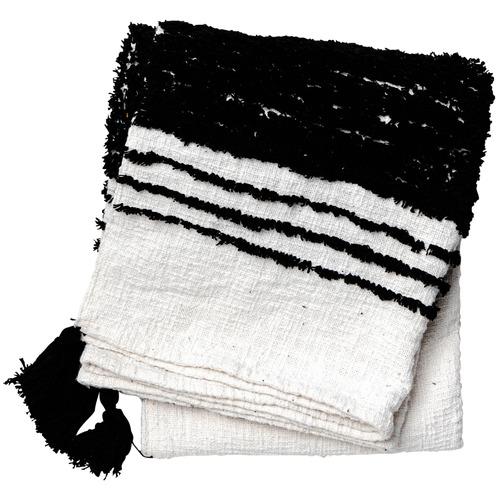 Sunday Homewares Black & White Soraj Cotton Throw
