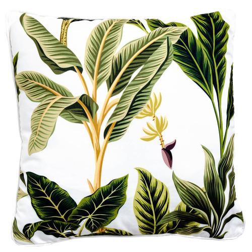 Sunday Homewares White Banana Palm Outdoor Cushion