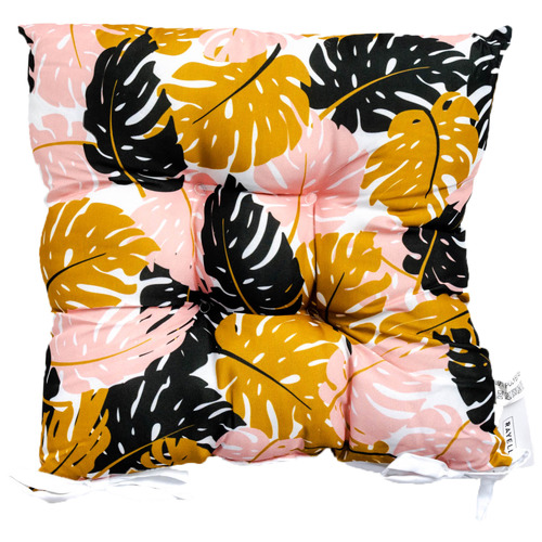 Sunday Homewares Blush & Leaves Monsteria Outdoor Chair Pad