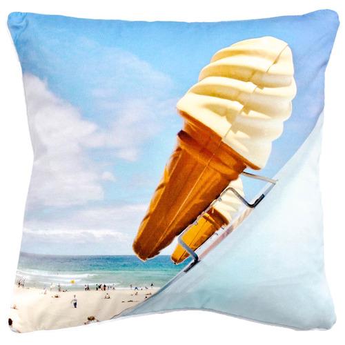 Sunday Homewares Blue Ice Cream Artist Lab Cotton Cushion