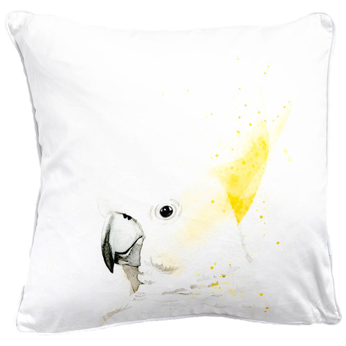 Sunday Homewares Sydney Sulphur Crested Cockatoo Artist Lab Cotton Cushion