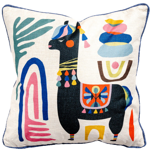 Sunday Homewares Llama Artist Lab Cotton-Blend Cushion