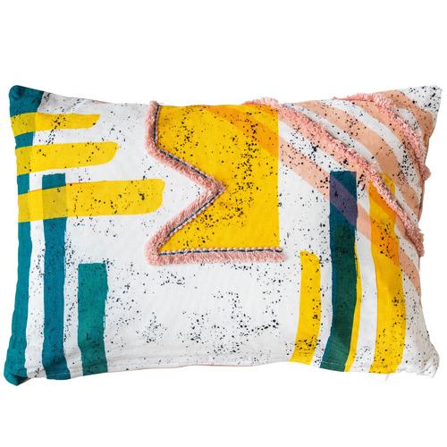 Sunday Homewares Fringed Aesha Cotton Cushion